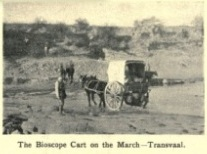 The Bioscope Cart on the March - Transvaal