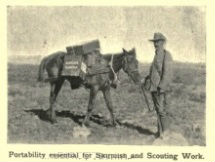 Portability essential for Skirmish and Scouting Work